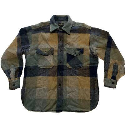 1940s Men's Shirts, Sweaters, Vests Vintage 1940s Rugby For All Good Sports Shirt Jacket Hunting Mens Large RARE! $150.00 AT vintagedancer.com
