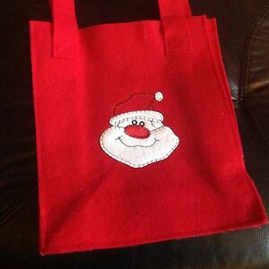 Santa felt gift bag. NEW. Nic's gifts Mount Waverley Monash Area Preview