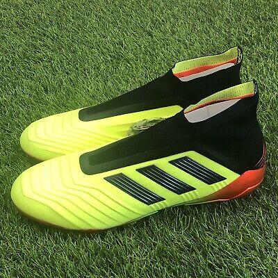 a502b2450 New Adidas Predator 18+ FG Size 13 Soccer Cleats Solar Yellow Black Red  DB2010