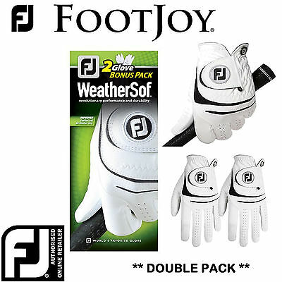 FOOTJOY GOLF GLOVES FOOTJOY WEATHERSOF * 2 GLOVE PACK * NEW RANGE MENS GOLF GEAR