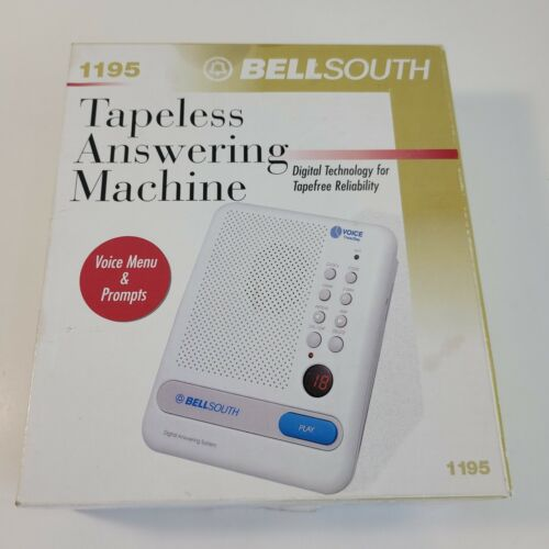 Vintage BellSouth Tapeless Answering Machine Model 1195 Open Box - Unused