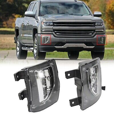2016 2018 Chevy Silverado 1500 Bright LED Fog Lights Driving Bumper LampsSwitch