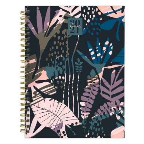 2021 Painted Foliage Medium Weekly Monthly Planner