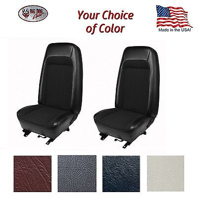 Front & Rear Bucket Seat Upholstery for 1979 - 80 Fox Body Mustang Hatchback