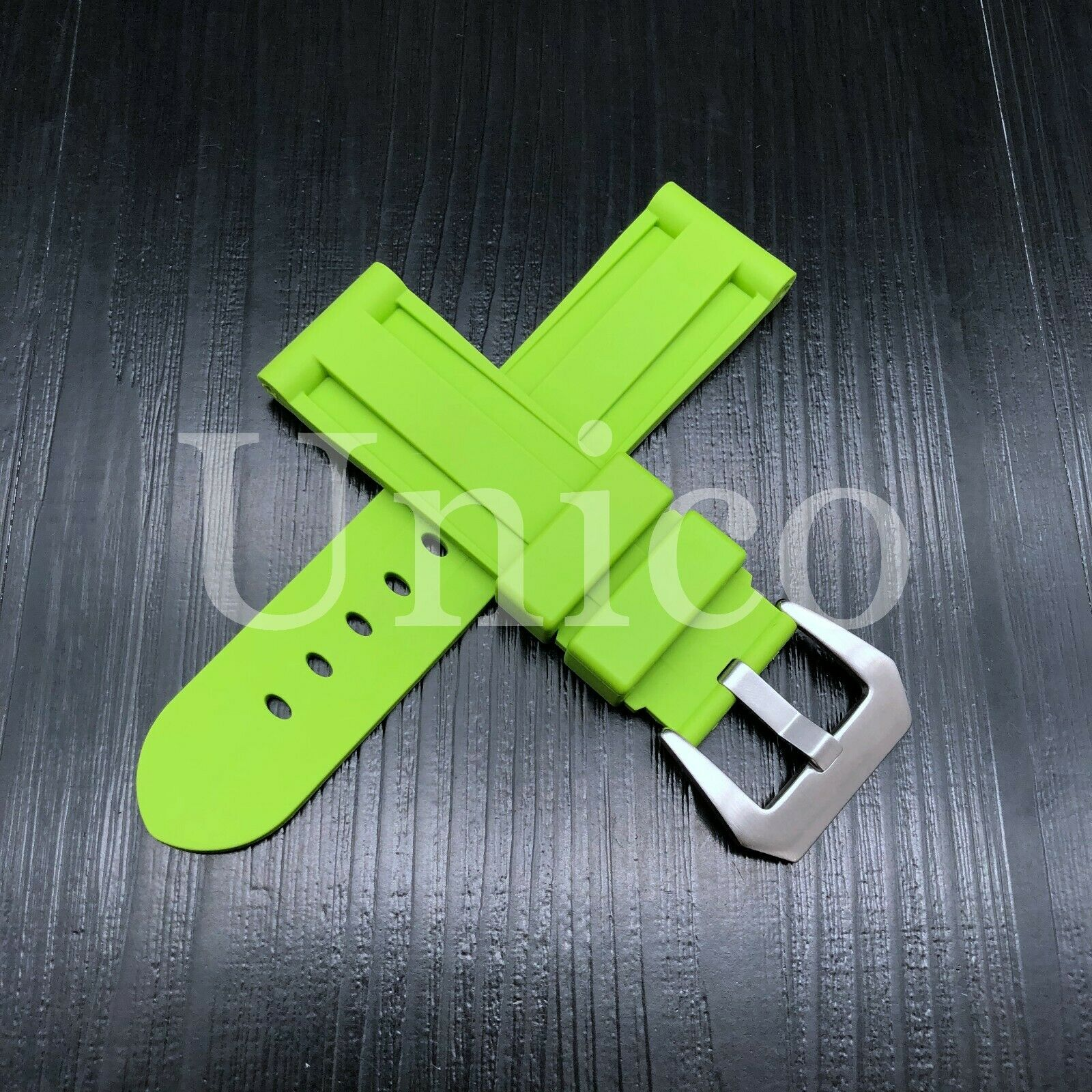 22 MM Light Green Rubber Silicone Strap Band Soft Vintage Re