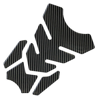 Hardcastle Motorrad Tankpad - Tankschutz Aufkleber für Motorräder - Carbon-Optik