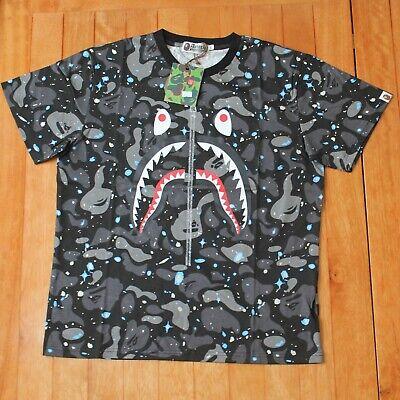 Bape Camouflage A Bathing Ape Shark Head Men's Shirt M-2XL 100% cotton hot 2020