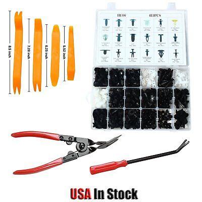 (415PCS Trim Clip Retainer Panel Bumper Fastener & Remover Tool Set Kit For Ford)