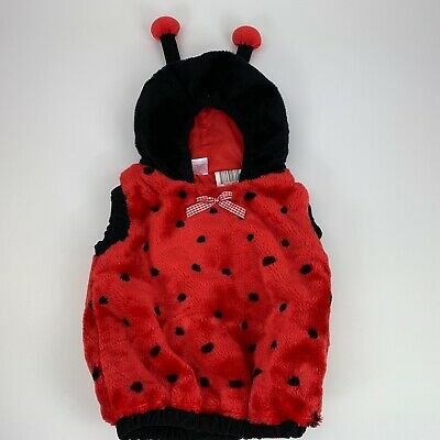 Ladybug plush costume for baby one piece red and black in size 24 months (Baby Ladybug Costumes)