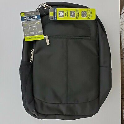 Travelon Anti-Theft RFID Protection Black Essential Backpack