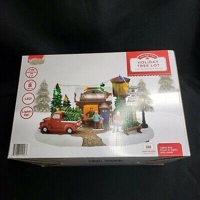Holiday Time Christmas Village House Led Musical Holiday Tree Lot 8 Carols