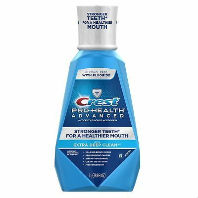 Crest Pro-Health Advanced Mouthwash with Extra Deep Clean, F