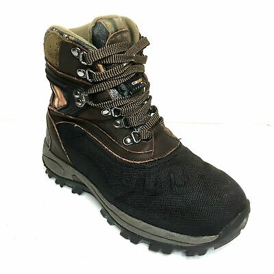600g Thinsulate Ultra Insulation (Kodiak Robson Mens Boots 8 Brown Leather Camo Waterproof 600g Thinsulate Ultra)