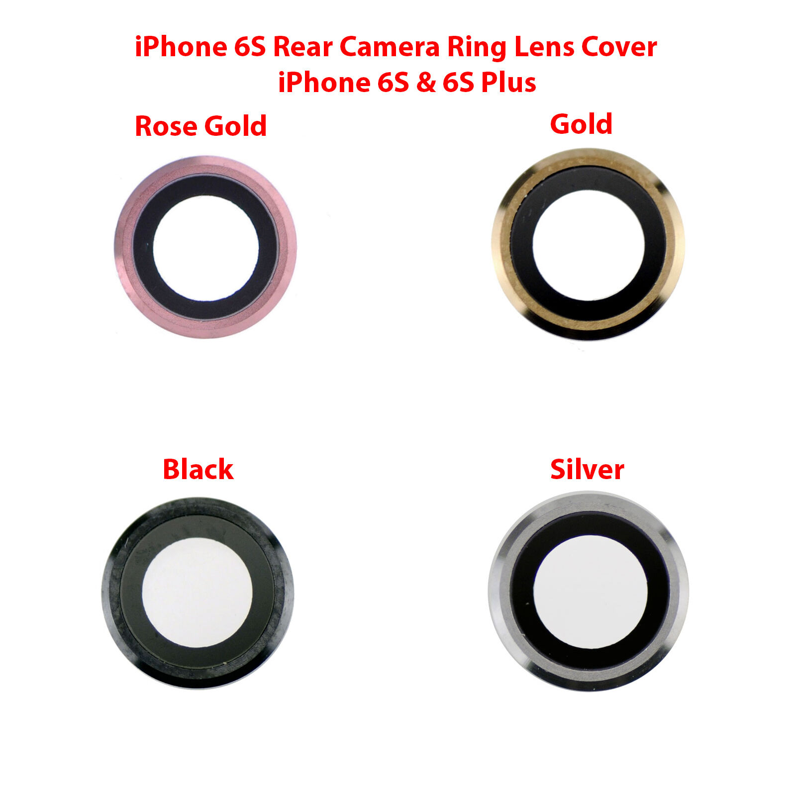 OEM Rear Back Camera Lens Glass Ring Cover Replacement for i