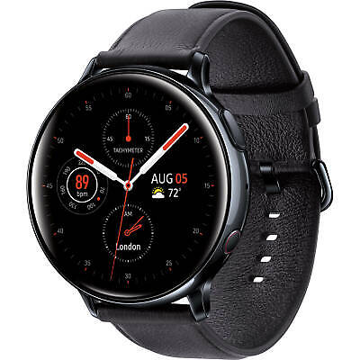 Samsung Galaxy Watch Active 2 Stainless Steel 44mm LTE-Black-Excellent