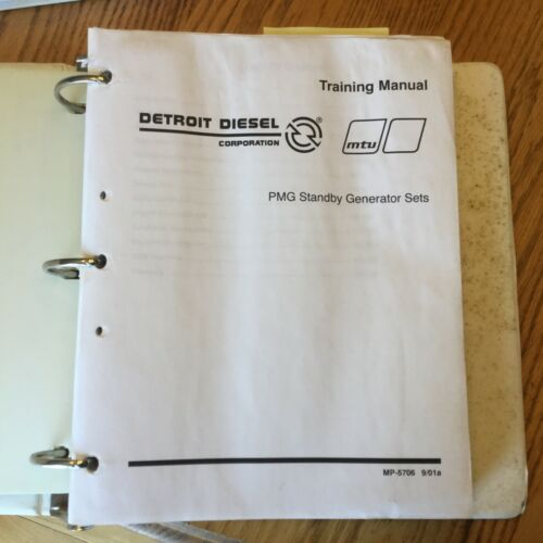 Detroit Diesel MTU PMG STANDBY GENERATOR SETS OPERATION & SERVICE MANUALS GUIDE