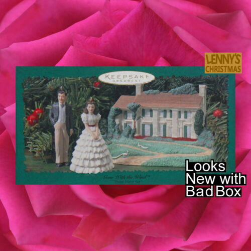 Hallmark Ornaments, 1996 Gone with the Wind 3 pc set 60th Anniversary, Looks New
