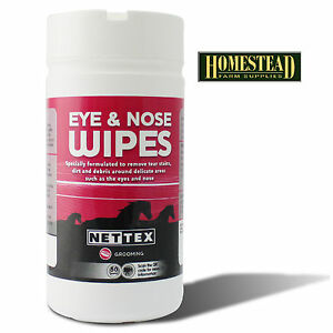 NET-TEX-EYE-AND-NOSE-WIPES-for-HORSE-PONY-GROOMING-SHOWING