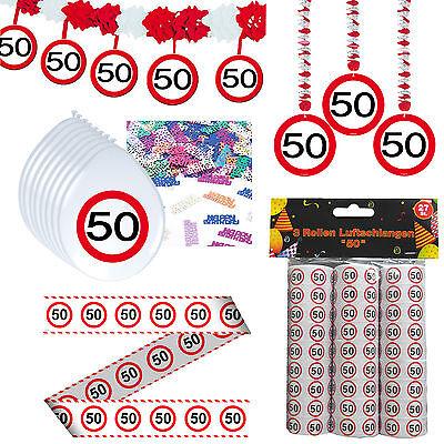 41 tlg. Set Partyset zum 50sten 50. Geburtstag Dekopaket Dekoration Partyzubehör