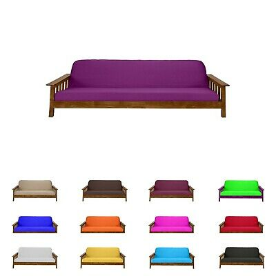 Solid Purple Full Size Futon Mattress Cover, Bed Protectors, Slipcovers, Covers