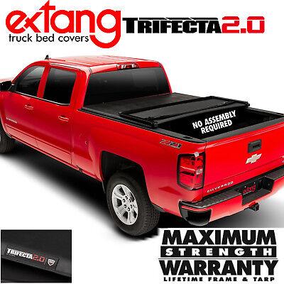 EXTANG Trifecta 2.0 Tri Fold Vinyl Tonneau Cover 2019 Silverado Sierra 5.9FT Bed - Extang Trifecta Tonneau