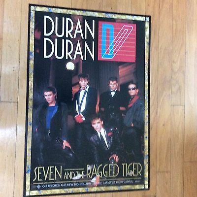 "Duran Duran ""seven and the ragged tiger"" 1983 original  promo poster"
