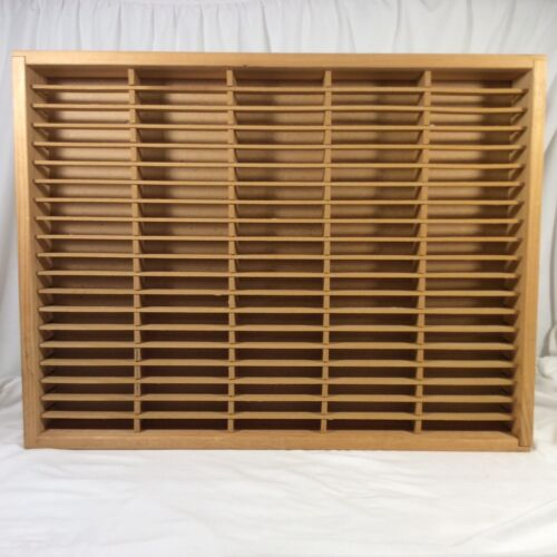 Vintage Napa Valley Box Company Wooden 100 Cassette Tape Wall Storage Holder