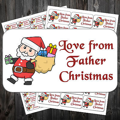 21 Christmas Gift Sticky Labels Stickers Tags Love From Father Christmas #acn ()
