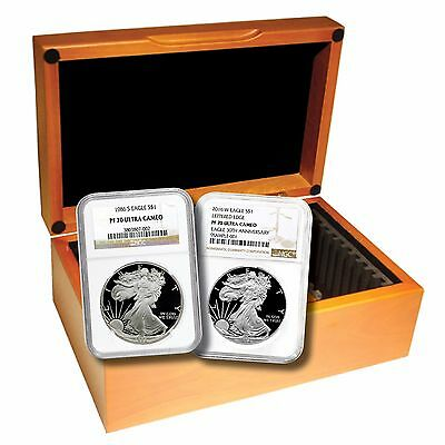 Click now to see the BUY IT NOW Price! 30 PC. 1986   2016 PROOF AMERICAN SILVER EAGLE   COMPLETE DATE SET   NGC PF70