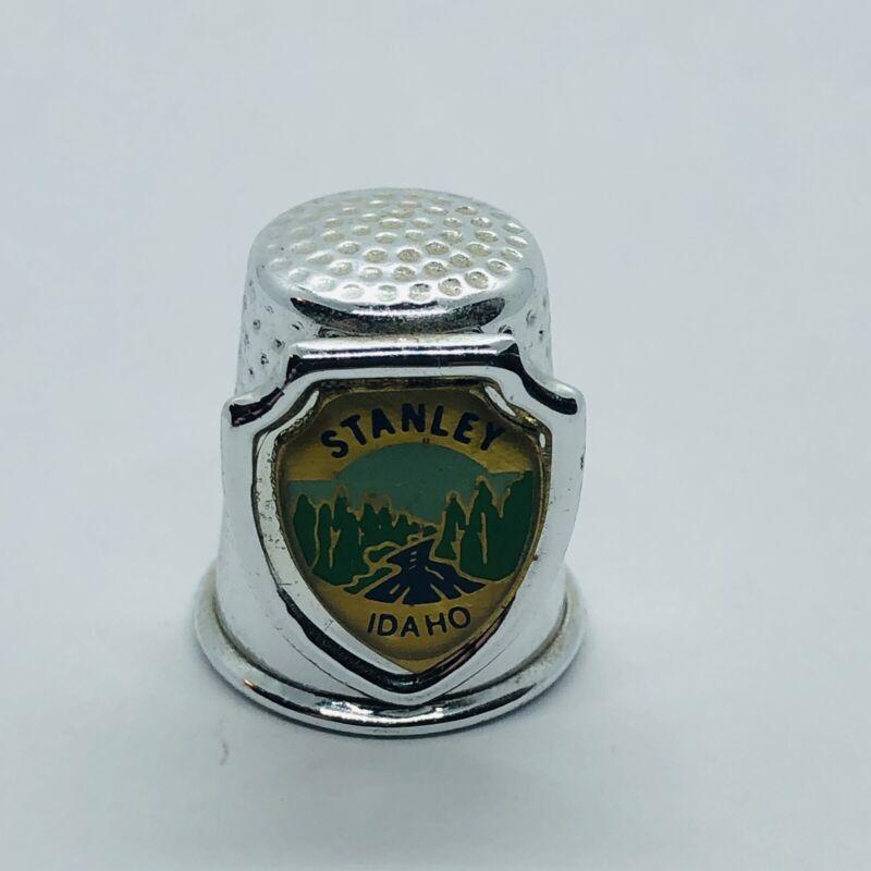 Stanley Idaho Souvenir Metal Thimble w/ Salmon River
