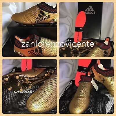 2505e5d21d2585 Adidas Men's X 17+ Purespeed FG Soccer Cleats Metallic Gold Black Suarez Sz  10.5