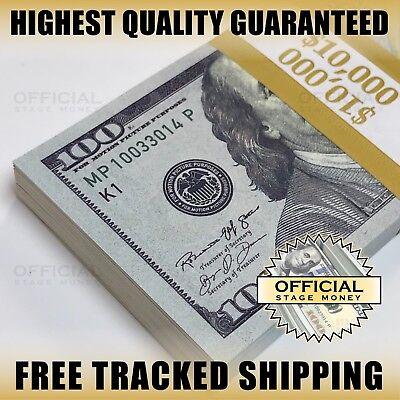$10,000 - Stack For Film, Movies, Videos Play Prank Fake Replica Copy Prop Money