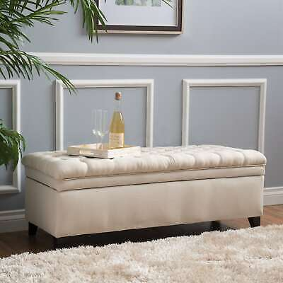 Hastings Tufted Fabric Storage Ottoman Bench by Christopher