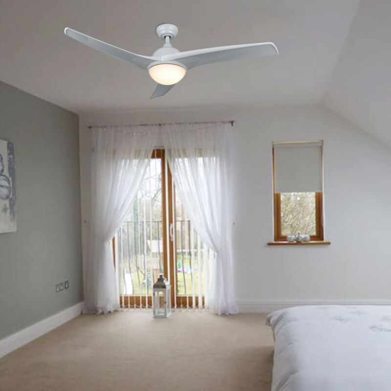 New Ceiling Fan with Lights&Remote Control White Color Blade