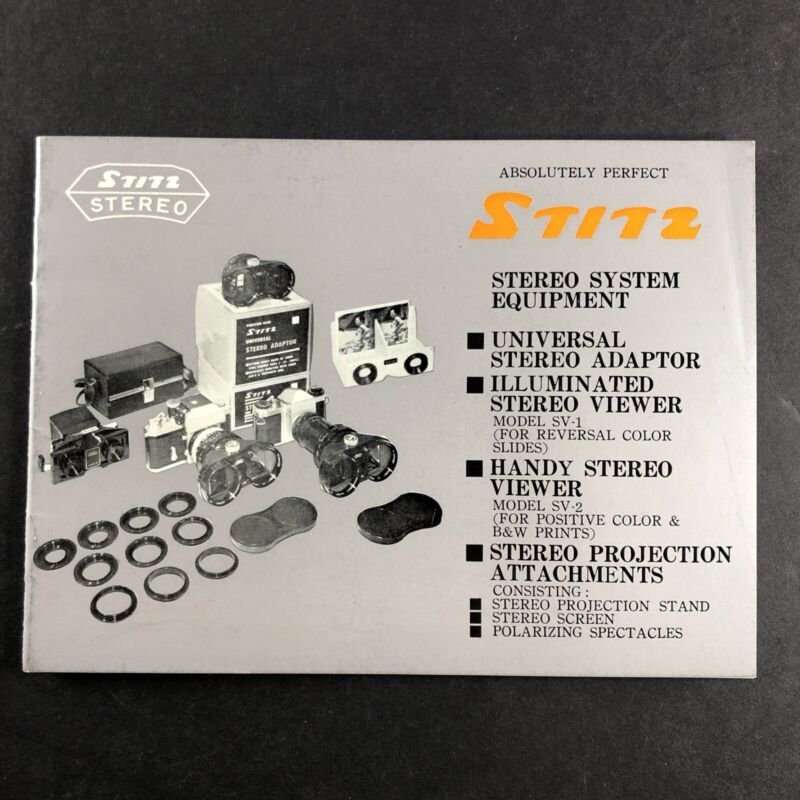 STITZ Stereo 3D Equipment publication flier Adapter viewer projection