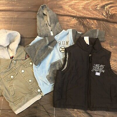 Baby Boy 6-9 Months Lot Of 3pcs Fall Winter Jackets Vest Cold Weather