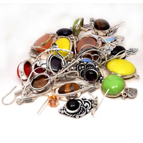 Lapis Lazuli & Mixed 20 pair Wholesale Lot 925 Silver Plated Handmade Earring