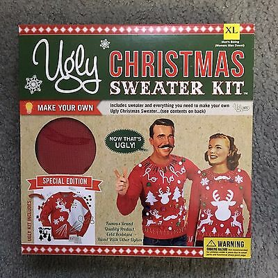 UGLY XMAS CHRISTMAS Red SWEATER KIT NEW Size XL](Ugly Sweater Kits)