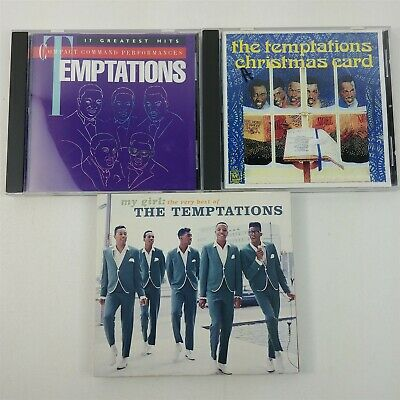 3 The Temptations CDs R&B Soul - Very Best Of, Greatest Hits, Christmas (The Temptations The Best Of The Temptations Christmas)