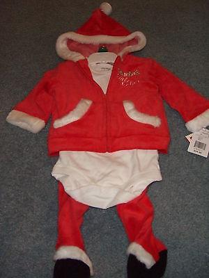 SANDRA MAGSAMEN SANTAS LITTLE HELPER XMAS OUTFIT UNISEX SIZE 3-6M NWT FREE - Santas Little Helper Outfit
