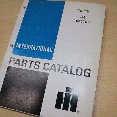 Ih International 784 Tractor Parts Manual Book Spare Catalog Farm List 1985 Oem