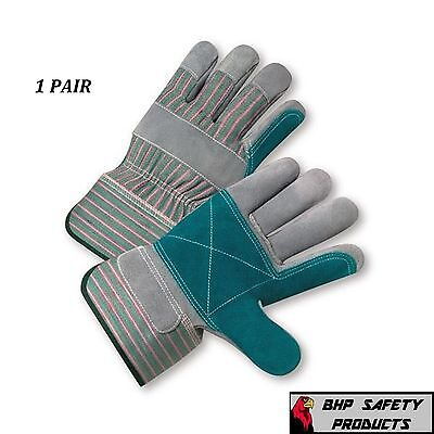 West Chester Double Palm Split Leather Work Glove Size Large 500dp 1 Pair
