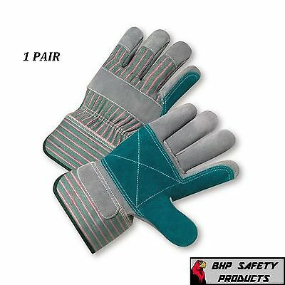 Double Palm Split Leather Work Glove Size Large West Chester 500dp 1 Pair