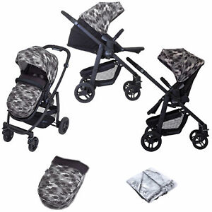 **Graco Evo Pushchair Stroller with Apron - Camo & Black - 0-3yrs - NEW BOXED**