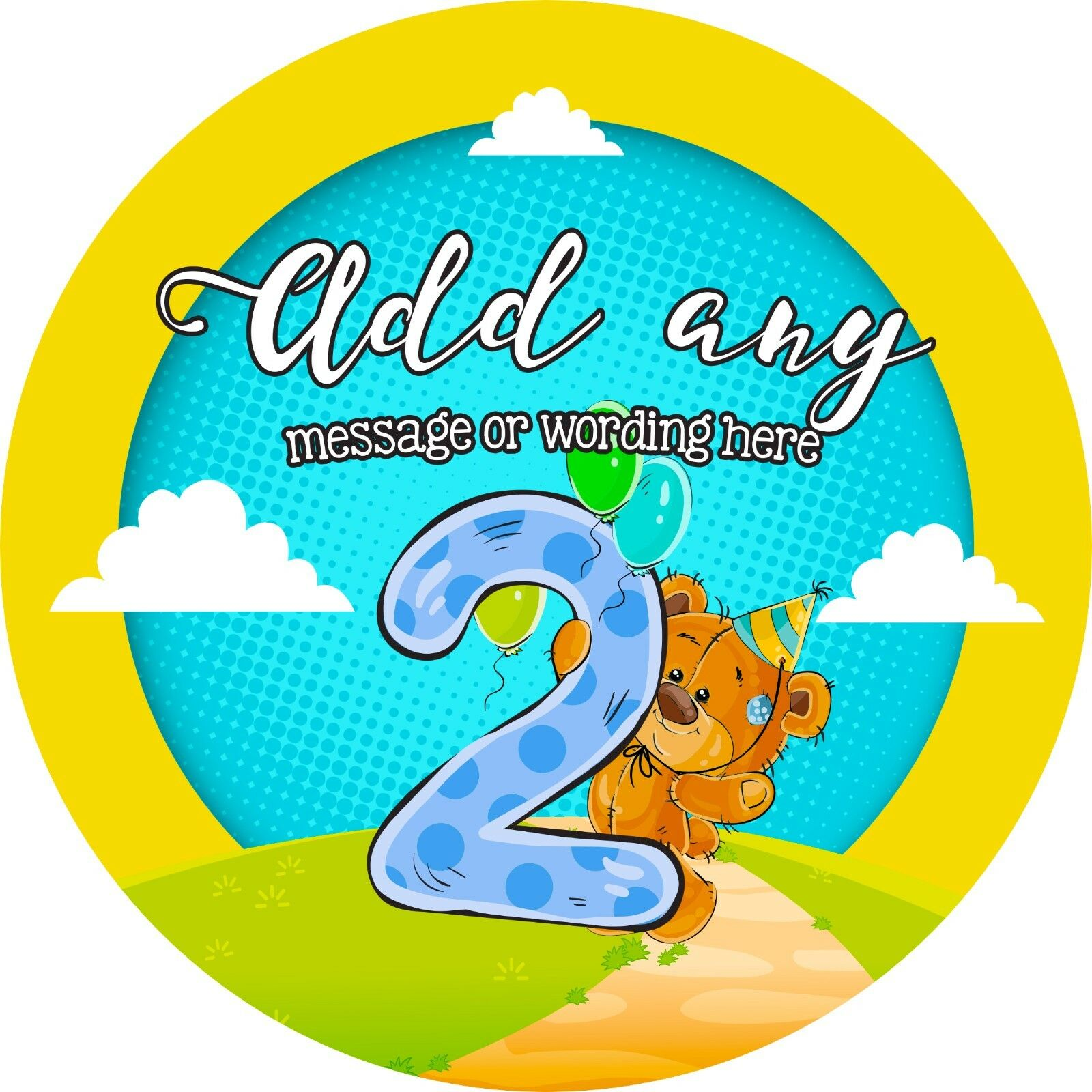 Happy 5th Birthday Sticker Labels for Party Bag Sweet Cones