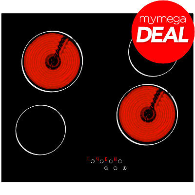 MyAppliances REF29104 60cm Touch Control 4 Zone Electric Ceramic Hob Black