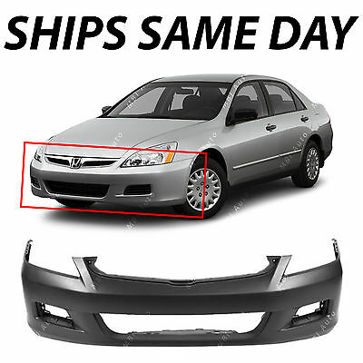 NEW Primered - Front Bumper Cover Replacement For 2006 2007 Honda Accord Sedan