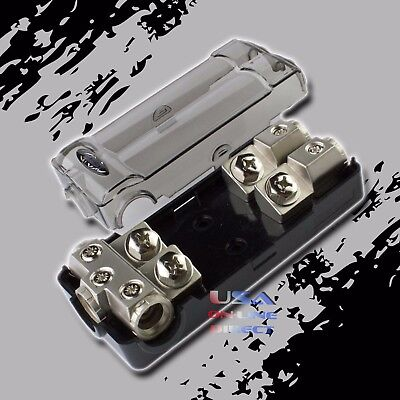 PLATINUM ANL FUSED DISTRIBUTION BLOCK 0/2G IN TWO 2/4 GAUGE AWG OUT CAR MARINE