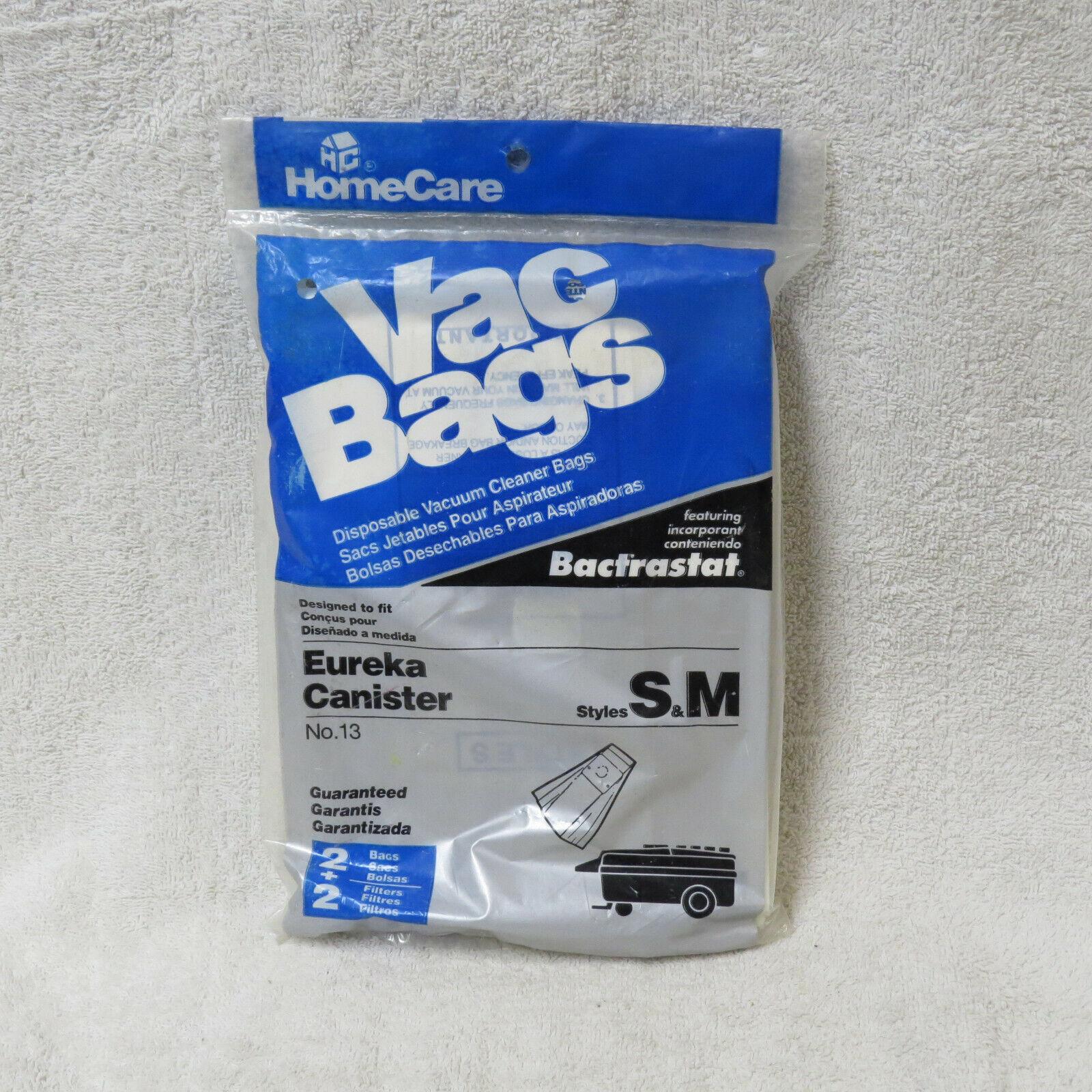 NEW - HomeCare Eureka S & M Vacuum Bags, 2 Bags/Filters/Pack