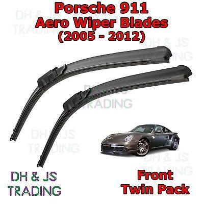 Fits Porsche 911 997 Coupe Aero VU Front Windscreen Window Wiper Blades